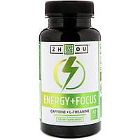 Zhou Nutrition, Energy + Focus, 60 Veggie Capsules
