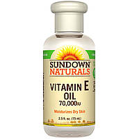 Sundown Naturals, Масло с витамином E, 70000 МЕ, 75 мл
