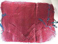 Сетка-мешок для овощей, бордовый, с ручкой, на 12 кг