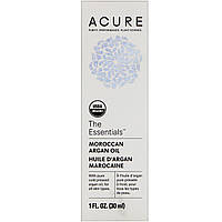 Acure Organics, The Essentials, марокканское аргановое масло, 1 ж. унц. (30 мл)