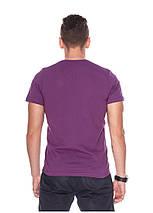 Футболка чоловіча горловина мис фіолетова, фото 3