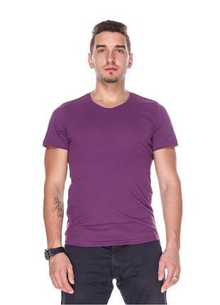 Футболка чоловіча горловина мис фіолетова, фото 2