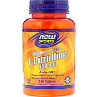 Now Foods, Sustained Release L-Citrulline, 750 mg, 120 Tablets