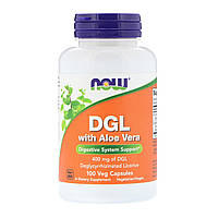 Now Foods, DGL with Aloe Vera, 400 mg, 100 Veg Capsules