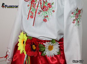 Вишитий костюм для дівчинки Суцвіття, фото 3