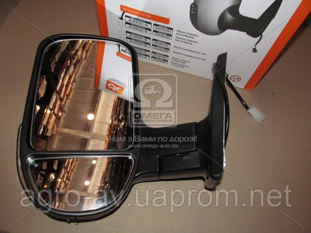 Зеркало боковое (46.8201021-40) ГАЗ 3302 нов. обр. с поворот. лев. черное, под покраск.