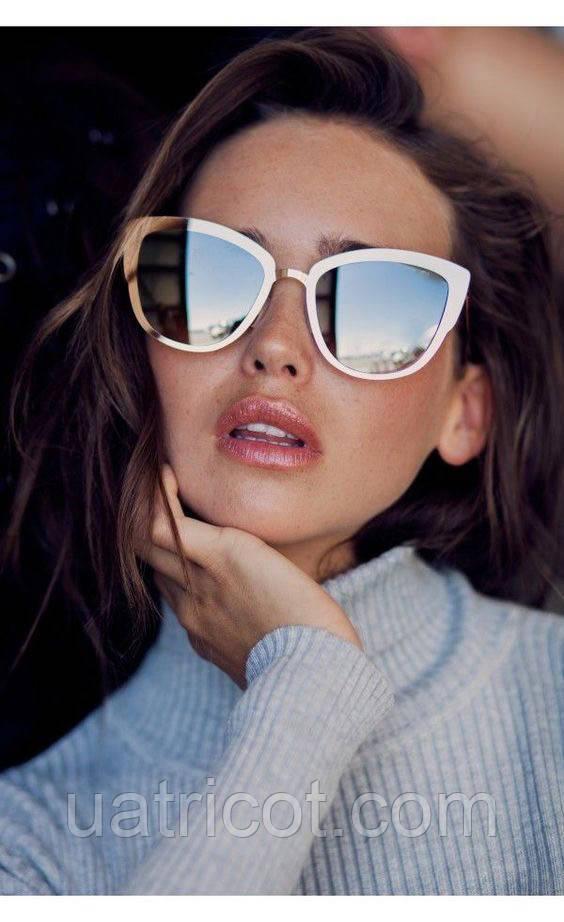 Солнцезащитные очки Премиум Cat eye (gold/silver)