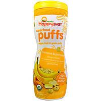 Nurture Inc. (Happy Baby), Органическое детское питание, органические колечки, Банан, (60 г)