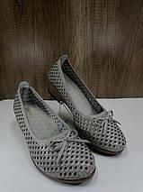 Летние женские туфли на небьльшом каблуке ALLSHOES 203-87363-20, фото 3