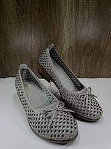 Летние женские туфли на небьльшом каблуке ALLSHOES 203-87363-20, фото 2