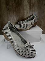 Летние женские туфли на небьльшом каблуке ALLSHOES 203-87363-20