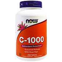 Now Foods, С- 1000 , 250 таблеток витамин C