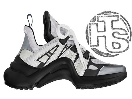 Женские кроссовки Louis Vuitton LV Archlight Sneaker Black Silver 1A43JP,  фото 2 aee7d12116d