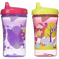 NUK, Gerber Graduates, чашки для дополнительного развития, с 12 месяцев, для девочек, 10 унц. (300 мл) каждый