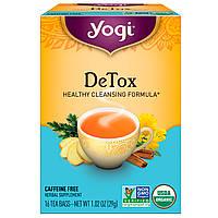 Yogi Tea, Чай Detox без кофеина, 16 чайных пакетиков, 1.02 унций (29 г)
