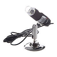 Цифровой микроскоп USB Magnifier SuperZoom 25-200X с LED подсветкой