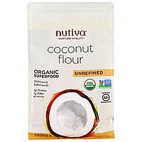 Nutiva, Органическая кокосовая мука, нерафинированная, 1 фунт (454 г)