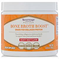 ReserveAge Nutrition, Стимулятор из костного бульона, коллагеноый белок из мяса животных травяного откорма, насыщенный вкус говядины, 120 г