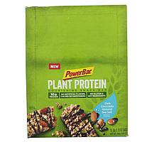 PowerBar, Растительный белок, темный шоколад с морской солью, 15 батончиков, 1,76 унц. (50 г) каждый