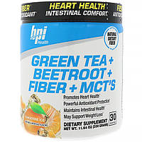 BPI Sports, Зеленый чай + Свекла + Клетчатка + Среднецепочечные триглицериды, мандариновый лед, 11,64 унц. (330 г)