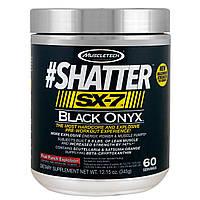 Muscletech, #Shatter, SX-7, Черный оникс, перед тренировкой, фруктовый взрывной удар, 12,15 унций (345 г)