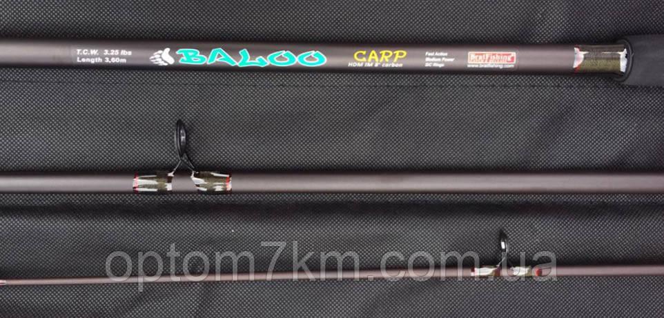 Спиннинг карповый Baloo 3.6 m 3.25 lbs карбон