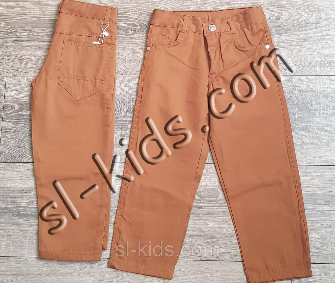 Яркие штаны для мальчика 3-7 лет(коричневые) опт пр.Турция