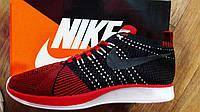 Кроссовки мужские в стиле Nike Flyknit Racer 2018 черн/кр (размеры в описании)