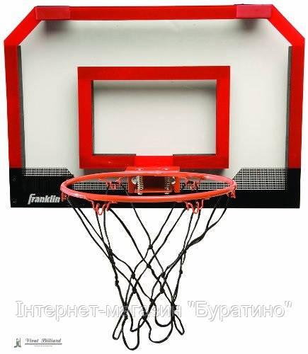Баскетбольный щит Franklin 45х30 см c кольцом 23 см + мяч, фото 1