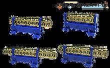 Шина нулевая на Din-рейку (с изолятором для крепления на Din-рейку)