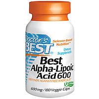 Doctor's Best, Альфа-липоевая кислота (Best Alpha-Lipoic Acid), 600 мг, 180 растительных капсул