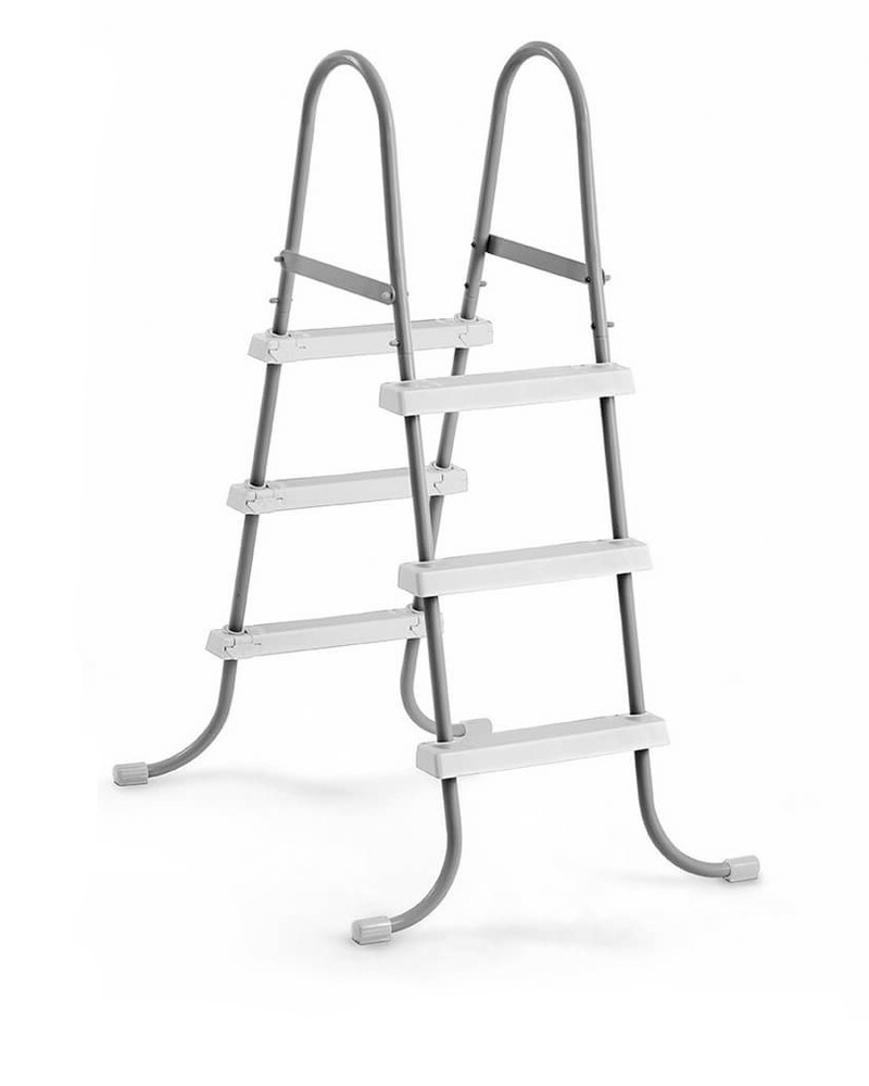Лестница для бассейнов серого цвета, высота 91 см Intex (28064)
