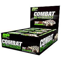 MusclePharm, Combat Crunch, шоколадный кокос, 12 батончиков, (63 г) каждый