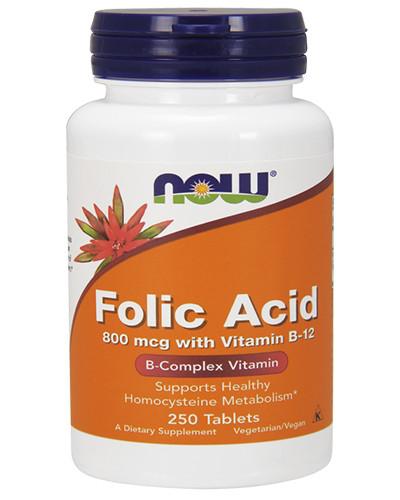 Витамины FOLIC ACID 800 mcg with VITAMIN B-12 250 таблеток