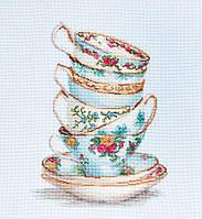 """Набор для вышивания крестом """"Luca-s"""" B2325 Бирюзовые чайные чашки, фото 1"""