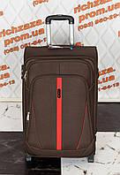 Средний вместительный коричневый чемодан Wings