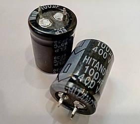 100mkf - 400v ELP 22x30mm (6f30-Hitano), 85°C