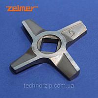 Нож двухсторонний для мясорубки Zelmer NR5 86.1009 10003882 (ZMMA025X)