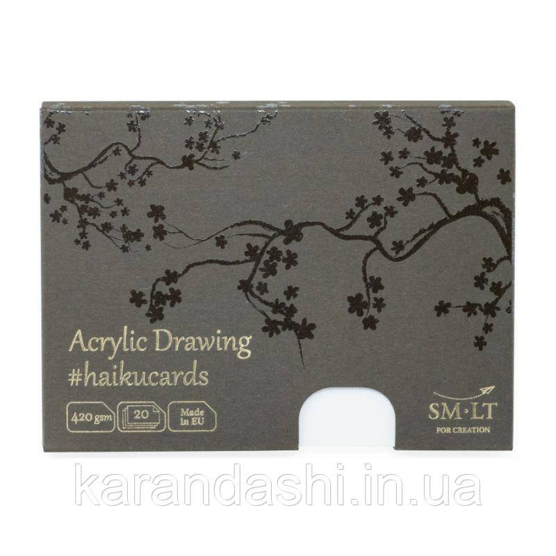 Набор открыток для АКРИЛА HAIKU в коробке 14,7*10,6см, 420г/м2, 20л., Smiltainis