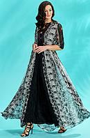 Вечернее платье  с питоновым принтом