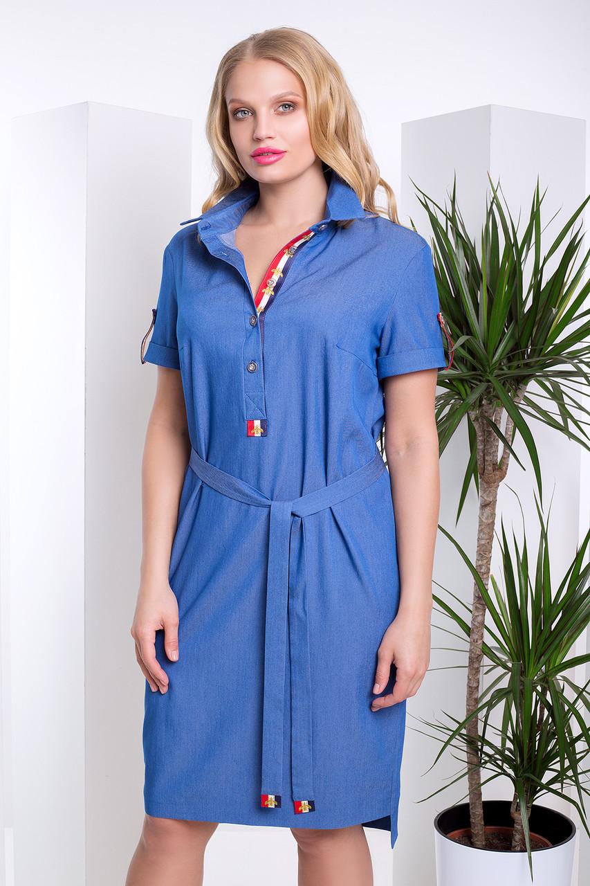 Джинсовое платье с 54 по 58 размер