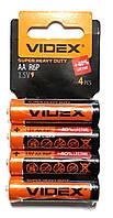 Батарейка солевая Videx R6P/AA