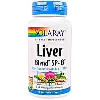 Solaray, Препарат на основе трав для печени Liver Blend SP-13, 100 капсул