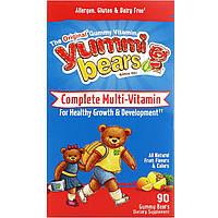 Hero Nutritional Products, Вкусные мишки, полный комплекс мультивитаминов, натуральный фруктовый вкус, 90 жевательных медвежат