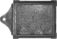 Задвижка печная большая чугунная (260х290 мм)