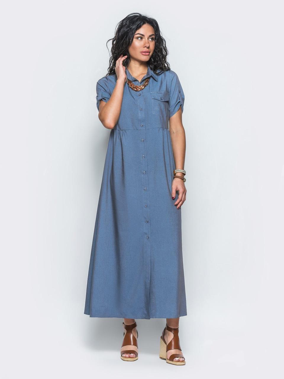 Платье из облегченного джинса сшить