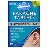 Hyland's, Таблетки от боли в ушах, 40 быстрорастворимых таблеток