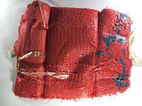 Сетка-мешок для овощей, красный, с ручкой, на 10 кг