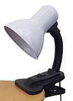 Светильник настольный (лампа) с прищепкой LEMANSO LMN076 белый Е27