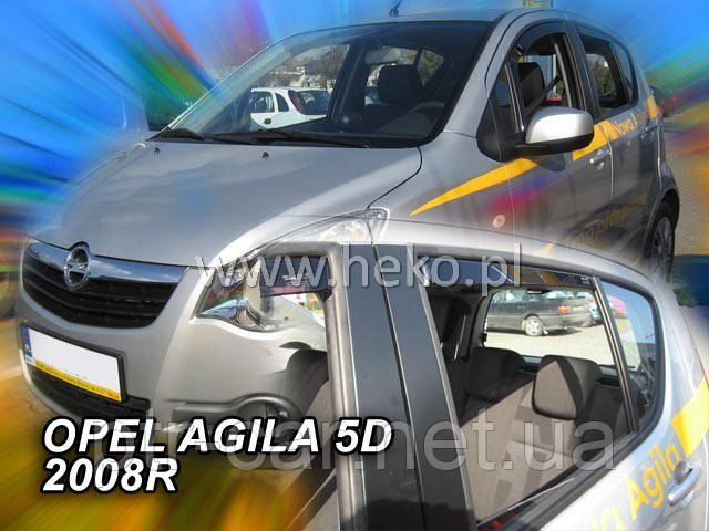 Дефлекторы окон (ветровики)  OPEL AGILA 2008r. →(HEKO)